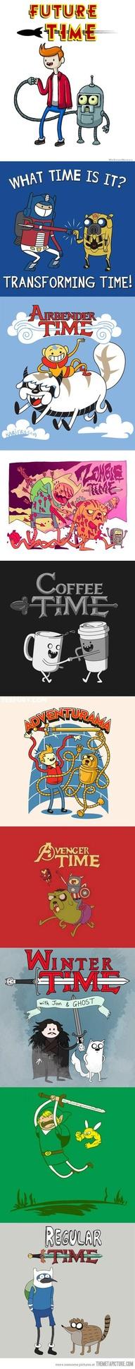 Hora de Aventura en otras Series Animadas
