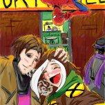 newgrounds_superhero_selfie__rouge__gambit__spidey_by_tamara_robitille-d8def4l